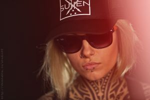 nose rings teya salat piercing blonde pierced lip tattoo pierced nose women with glasses hat women