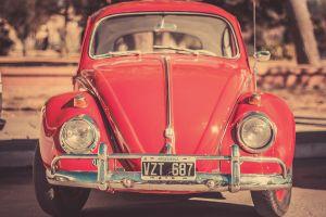 numbers red cars car vehicle volkswagen beetle