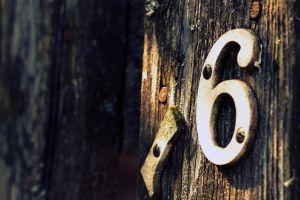 numbers wood depth of field old
