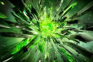 nvidia crystal  abstract digital art green