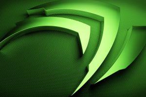 nvidia texture green computer logo