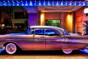 old car oldtimer hdr vehicle 1957 chevrolet bel air