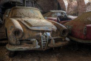 old car wreck vehicle car