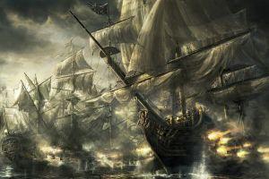 old ship sea battleship