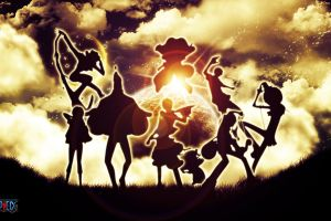 one piece lens flare clouds silhouette