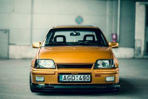 opel car old car orange