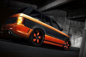 orange cars vehicle land rover car