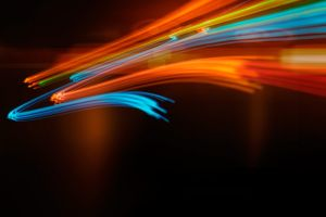 orange colorful digital art shapes light trails