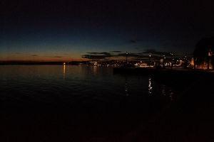 oslo night cityscape sunset