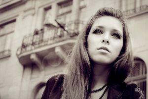 outdoors model face women sepia women outdoors