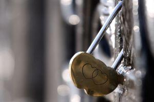padlock metal heart