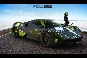 pagani huayra vehicle monster energy car