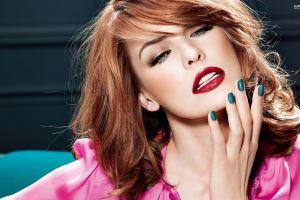 painted nails photo manipulation actress milla jovovich  women celebrity face