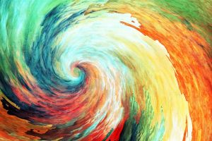 painting vortex hurricane anime psychedelic artwork spiral colorful abstract