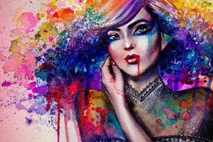 painting women colorful artwork