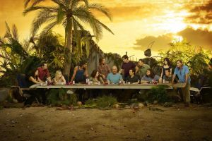 palm trees evangeline lilly lost the last supper