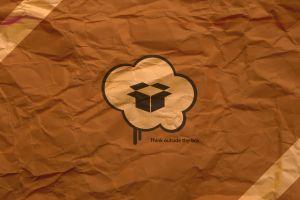 paper digital art typography brown