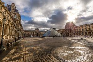 paris cityscape building louvre hdr