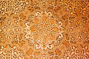 pattern brown orange artwork