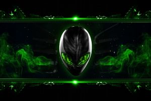 pc gaming alienware computer green
