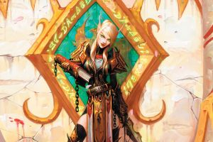 pc gaming green eyes blood elf video games fantasy girl world of warcraft blood elves elves women fantasy art