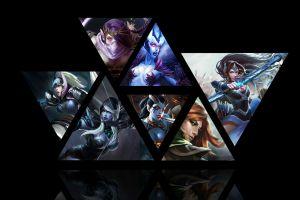 pc gaming video game art video game warriors dota 2 collage triangle fantasy girl video games fantasy art