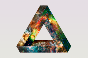 penrose triangle triangle space simple background abstract minimalism digital art
