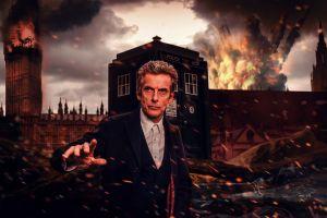 peter capaldi destruction doctor who tardis london the doctor