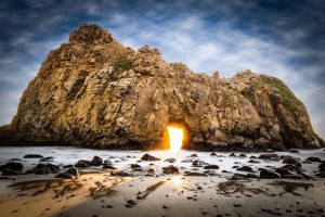 pfeiffer beach beach rock california usa