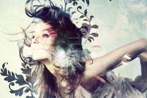photo manipulation artwork model shapes women brunette abstract digital art