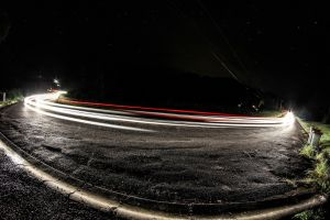 photography lights night road light trails long exposure