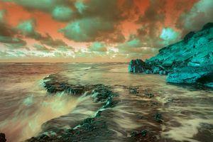 photoshop sea clouds digital art water