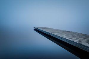 pier water blue background