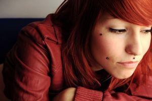 piercing redhead pierced cheeks closeup women jane doe suicide suicide girls