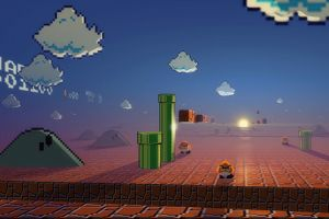 pixel art retro games super mario video games digital art