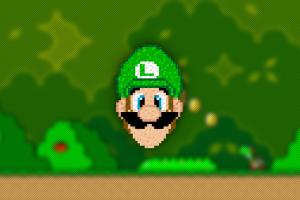 pixels super mario pixel art trixel luigi video games