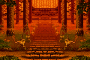pixels trees artwork samurai shodown
