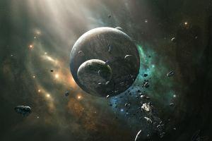 planet artwork joeyjazz digital art space space art