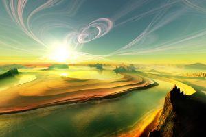 planet artwork sky render