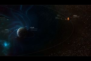 planet comet space astronomy earth mars solar system infographics