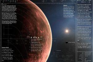 planet mars infographics