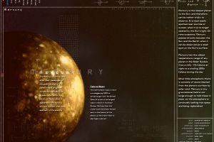 planet mercury infographics