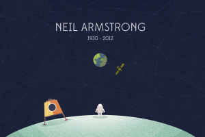 planet minimalism moon astronaut neil armstrong earth space space art