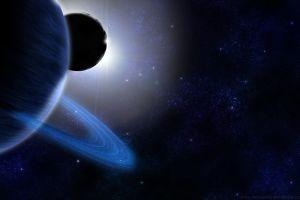 planet planetary rings space digital art space art
