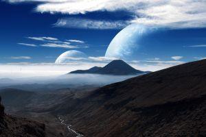 planet space art digital art landscape
