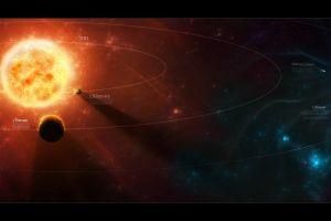 planet space art solar system