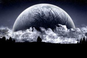 planet space art stars clouds fantasy art