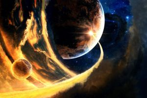 planet space art stars