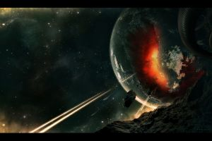 planet space digital art apocalyptic space space art