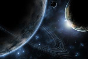 planet space planetary rings space art digital art